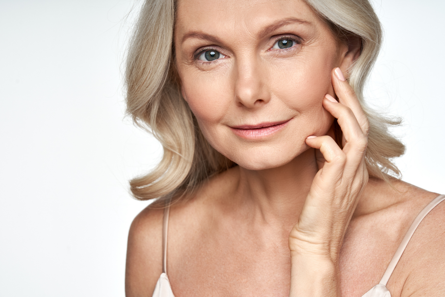woman noticing the change in her skin due to aging and reached out to LifeGaines for facial treatments